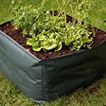 """Apipi raised garden planter fabric bed, 4 divided grids durable square planting grow pot for carrot onion herb flower… 10 made of eco-friendly polypropylene material, waterproof, heat and cold resisting(-94℉ to 320℉). 4 grids garden bed - this plastic planting garden bed has 4 divided grids, 11. 8""""(l)*11. 8""""(w)*9. 8""""(h) for each grid. There are some drain holes on bottom, helpful for planter growth. Great for seedling growing and planting - this raised garden bed is good for seedlings and planters growth, works with any material pot or planter. Cube square allows it to be placed on any flat surface, rooftop, patio, urban gardens, concrete, etc.."""