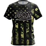 CoolWick Storm Camouflage Flag Bowling Jersey