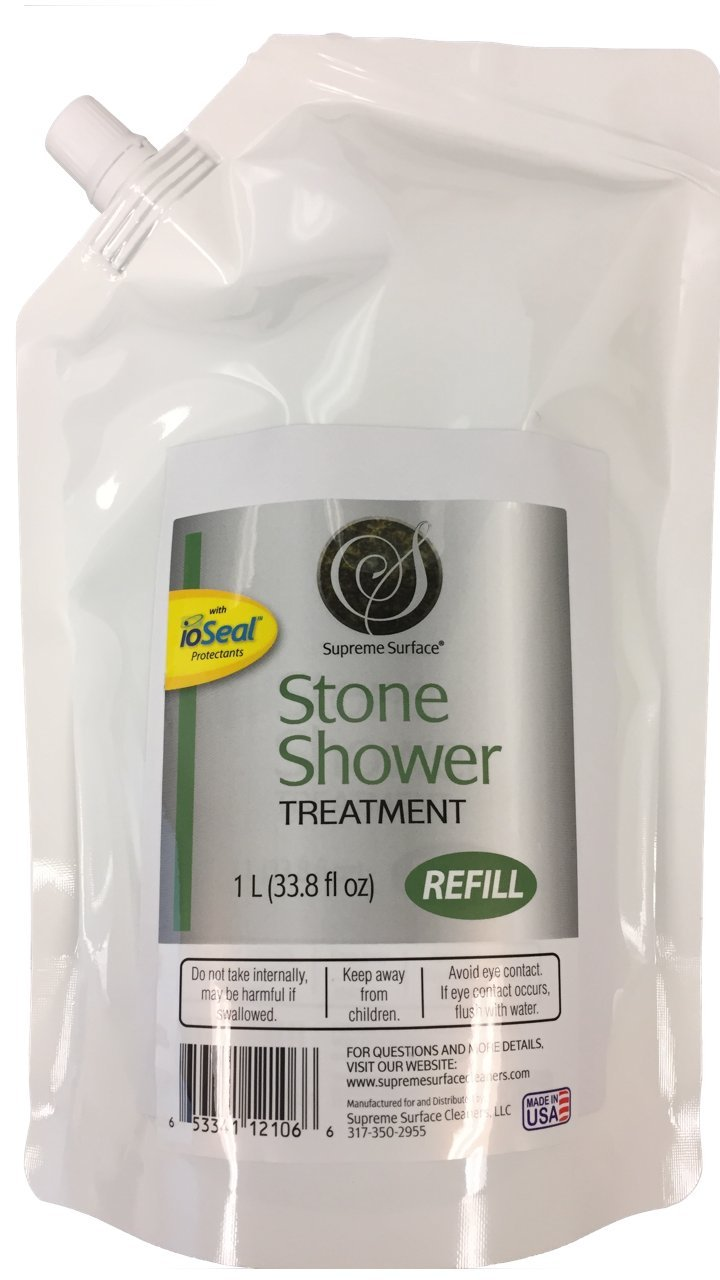 Supreme Surface Stone Shower Cleaner and Conditioning Treatmentt (1 Liter (33.8 fl oz)) Refill Buddy by Supreme Surface