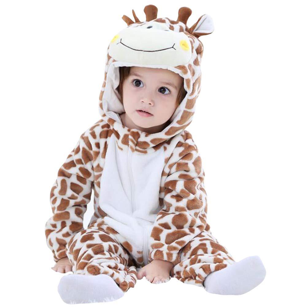 Enfant Combinaison B/éb/é Grenouill/ère avec Capuche Unisexe Pyjama Barboteuses Salopette Rompers One Piece