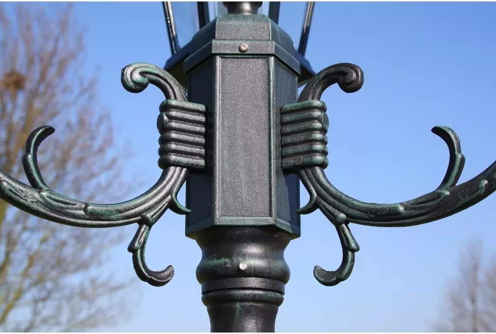 Cikonielf Farola de Pie para Exterior 230CM Impermeable IP44 L/ámpara de Jard/ín con Poste iluminaci/ón Exterior 100W Base E27