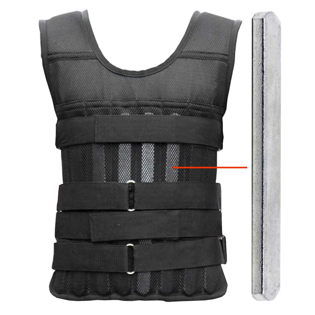 Adjustable Weight Vest Breathable with 42pcs Steel Plates 18lbs Shenzhen Greenten Co. Ltd