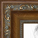 ArtToFrames 13x16 inch Dark Gold with Beads Wood Picture Frame, 2WOMD6301-13x16