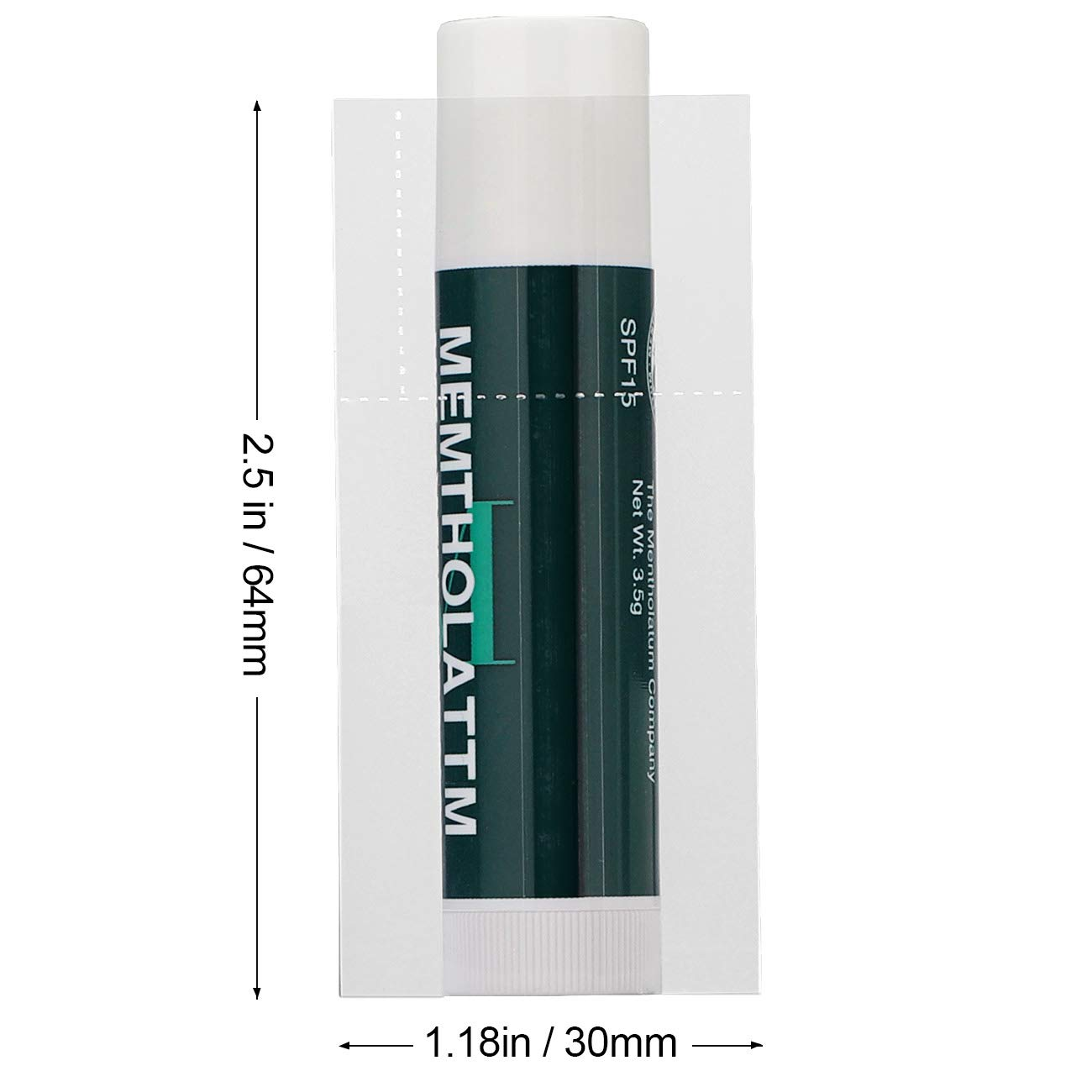 MORIDA Lip Balm Shrink Bands 200 pcs 64x30 mm Clear PVC Heat Wrap Sealer Fits Chapstick Style Lip Balm Tubes