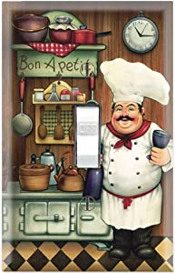 Graphics Wallplates - Bon Appetit Chef in the Kitchen- Single Toggle Wall Plate Cover