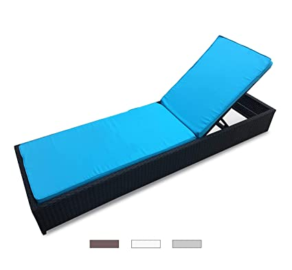 Pleasing Divano Roma Furniture Outdoor Patio Lounge Chair Adjustable Folding Recliner Chaise Long Rattan Chair Black Blue Dailytribune Chair Design For Home Dailytribuneorg