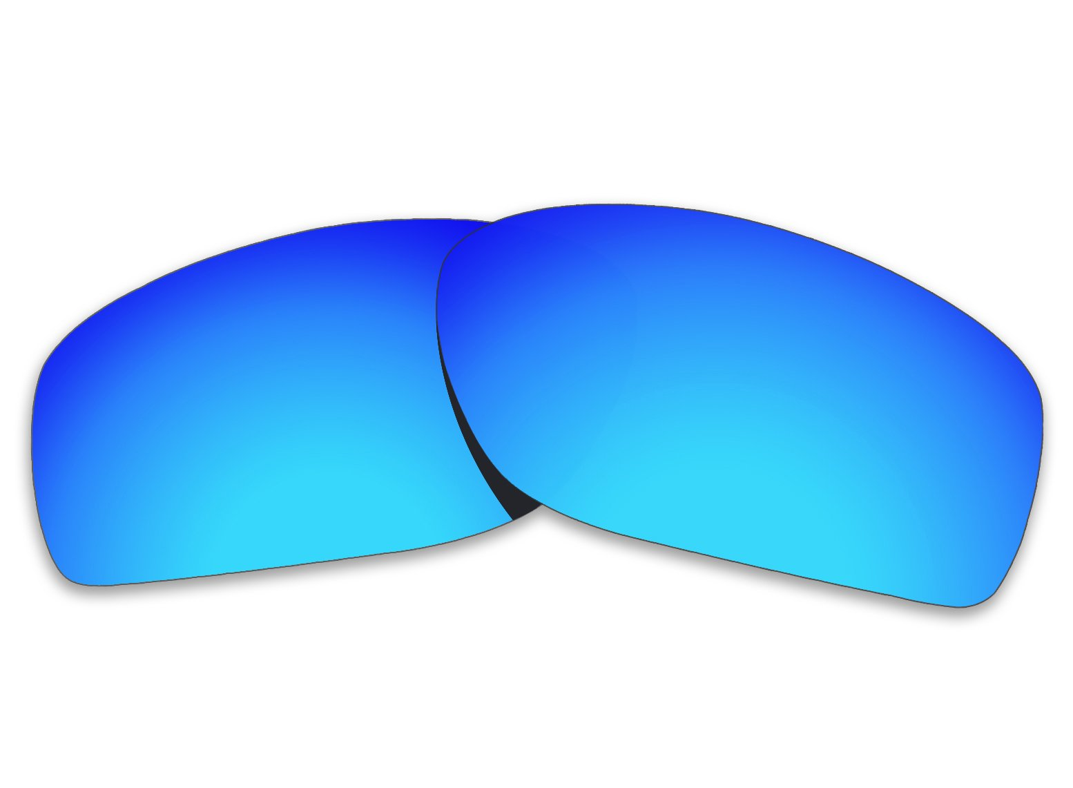 COLOR STAY LENSES 2.0mm Thickness Polarized Replacement Lenses for Oakley Conductor 8 OO4107 Titanium Mirror Coatings (Blue Mirror) by COLOR STAY LENSES