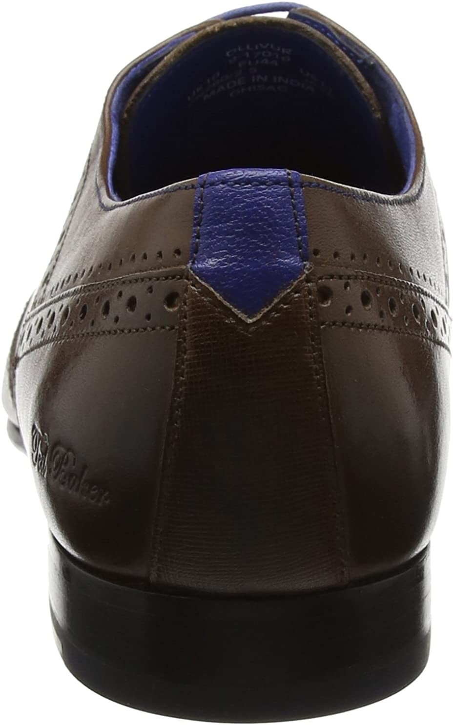 Ted Baker Mens Ollivur Leather Lace Up Formal Brogue Shoe Brown