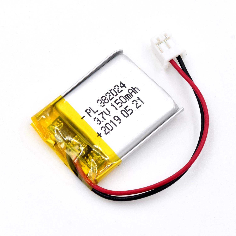 Bateria Lipo 3.7V 150mAh 382024 Recargable JST Conector