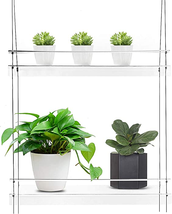 "KUNZITE Hanging Window Plant Shelves (20""x6""x34"", 2 Shelves)"