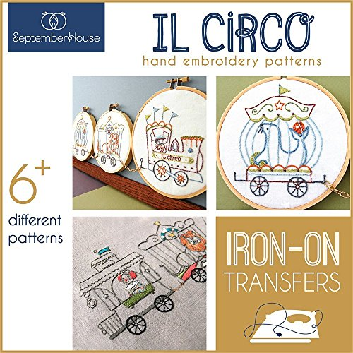 Il Circo Vintage Circus Train Hand Embroidery Iron On Transfers ()