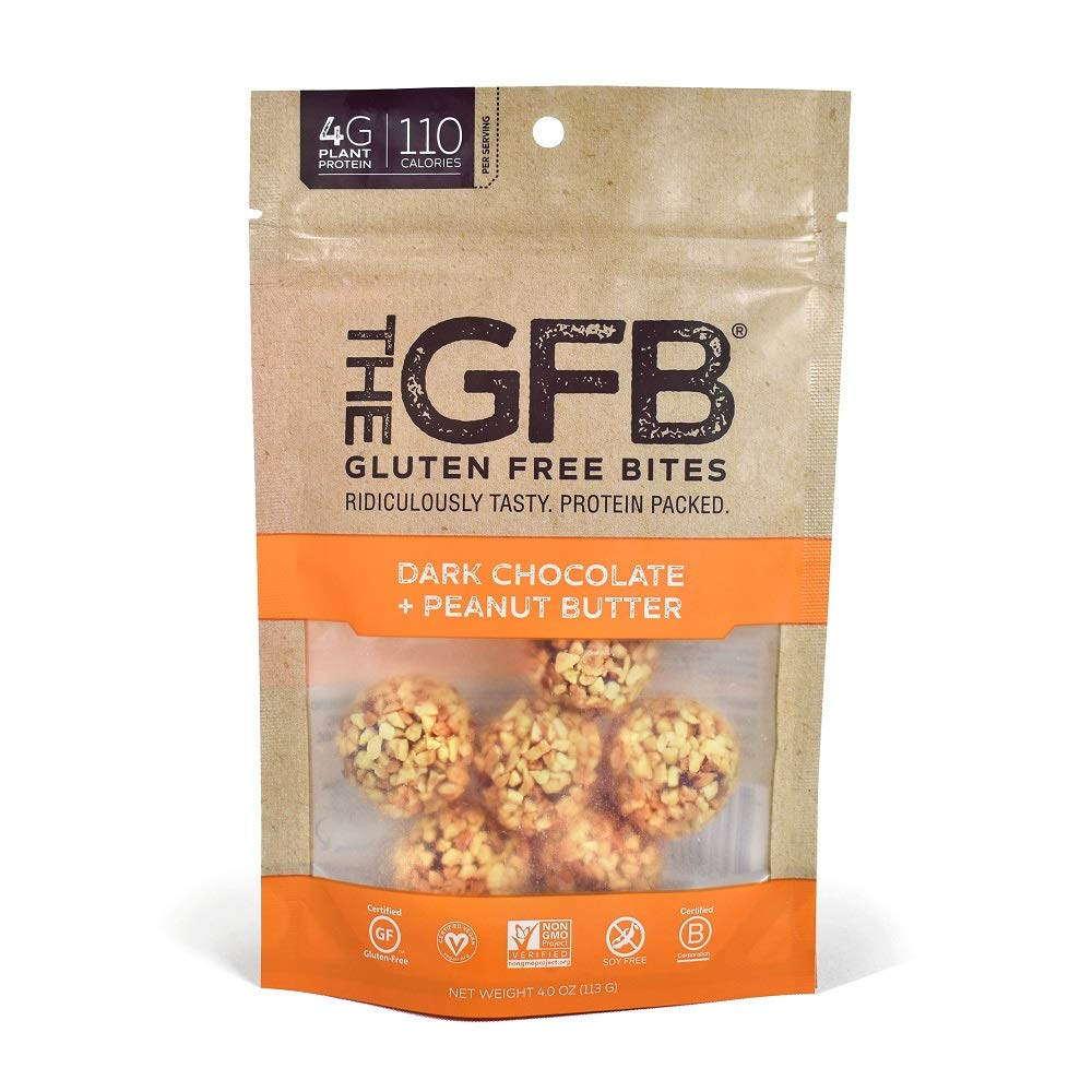 The GFB Gluten Free, Non GMO High Protein Bites, Dark Chocolate Peanut Butter, 4 Ounce (6 Count) by The Gluten Free Bar