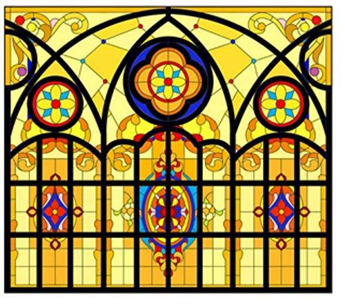 LMLM Glass Film Light Translucent Opaque Frosted Glass Sticker Balcony Window Window Sticker Blackout Color Film 45X60CM