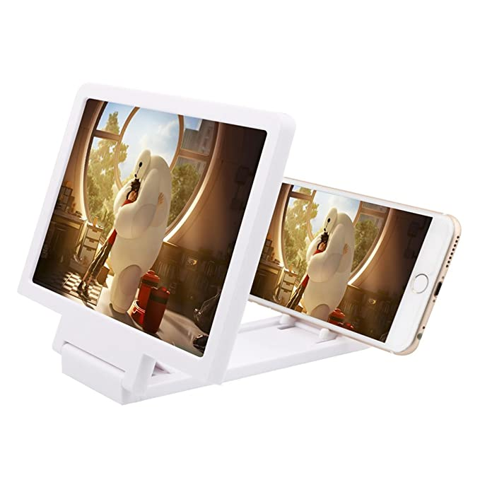 Amazon.com: eDealMax plegable portátil altavoz incorporado lupa 3D de la pantalla de película HD Amplificador Blanca Para el teléfono: Electronics