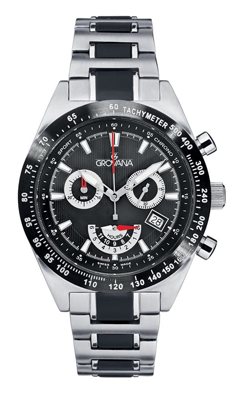 GROVANAGROVANA Herren-Armbanduhr 1622.9176 Chronograph edelstahl Silber 1622.9176
