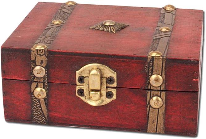 Compra Forbestest Caja Cofre del Tesoro de Almacenamiento de Titular joyería Accesorios decoración del hogar Viejo Almacenamiento Tipo de encapsulado en Amazon.es