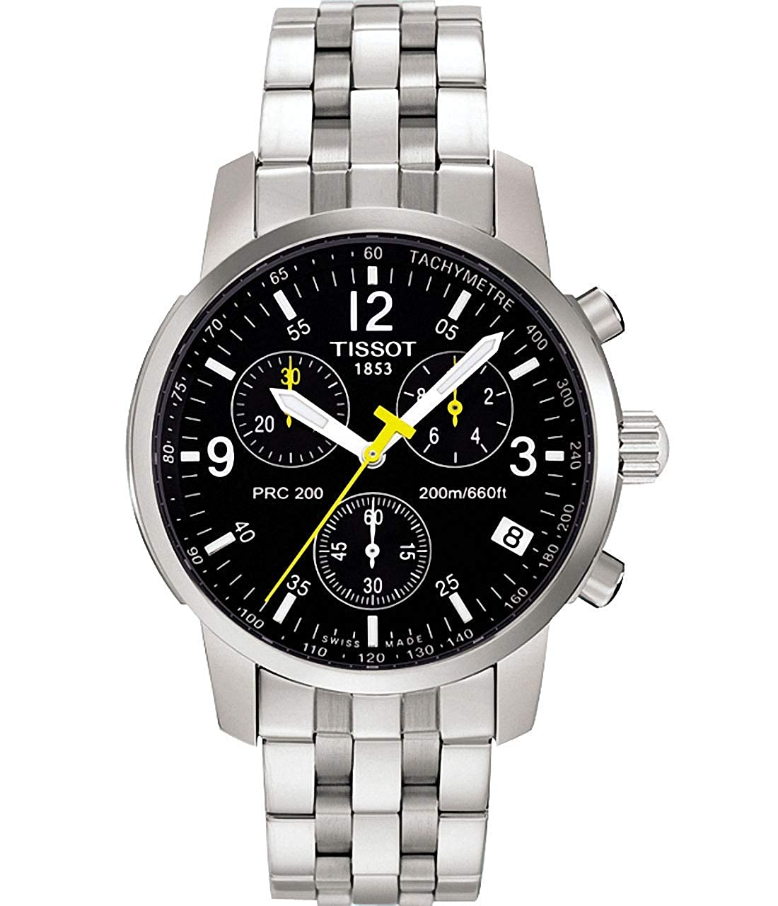 12365afa2af Amazon.com: Tissot Men's T17158652 PRC 200 Chronograph Watch: Tissot:  Watches