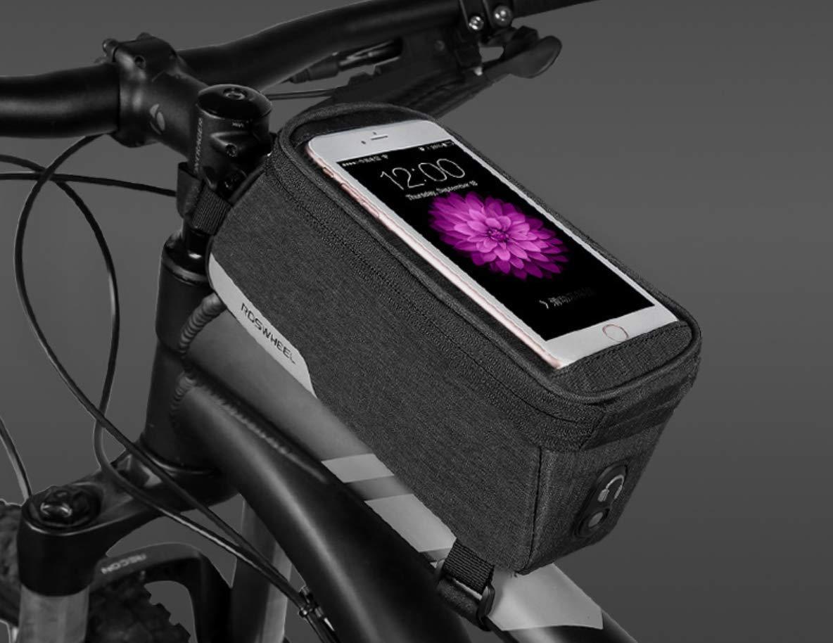 FSR Sac De Bicyclette Vélo Avant Tube Cadre Bicyclette Écran Tactile Téléphone Portable Sac 20 * 10 * 11 Cm