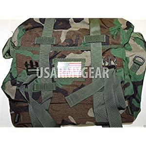 New US Army Military Genuine Military Issue GI Woodland Camo Waterproof Sleep System Carrier SSC Bag MOLLE MSS