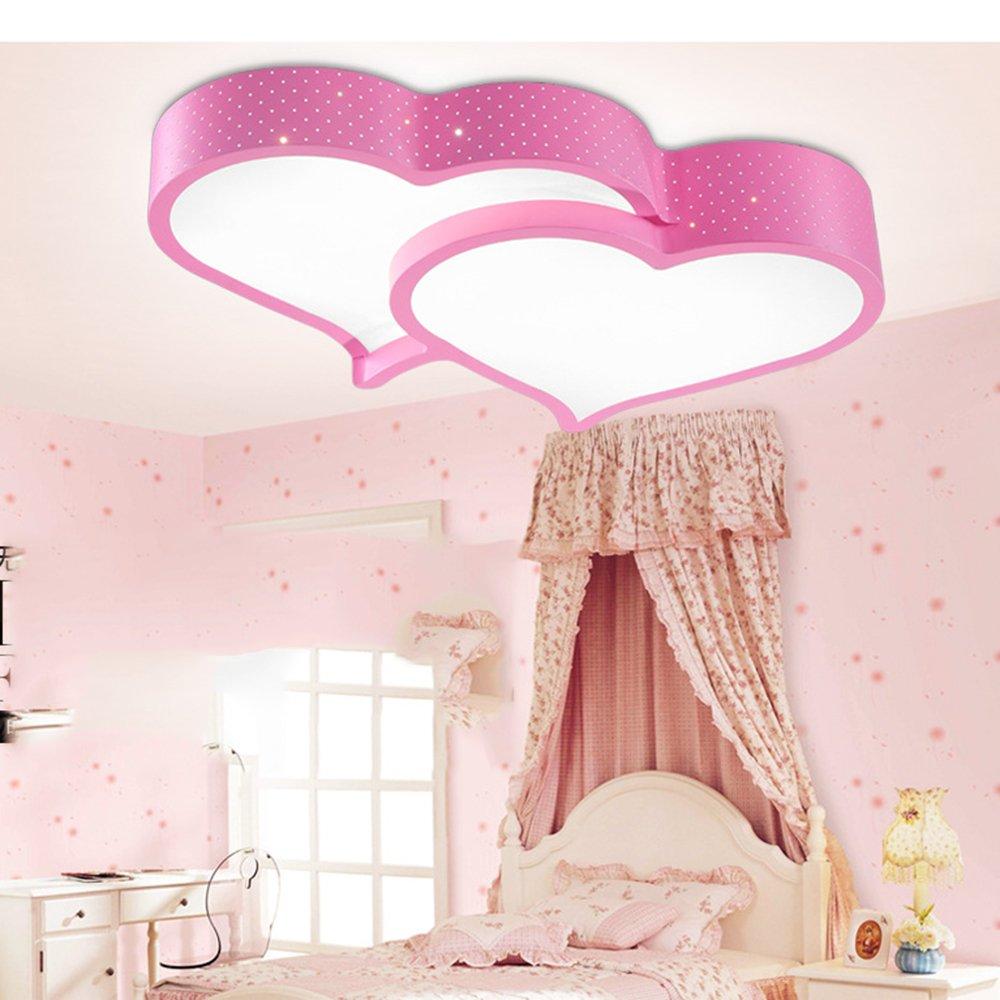 LINA-Illuminazione della stanza dei bambini per camera da letto semplice e moderno led a forma di cuore ristorante dolce lampada nello studio (white light), pink Lampadario LINA