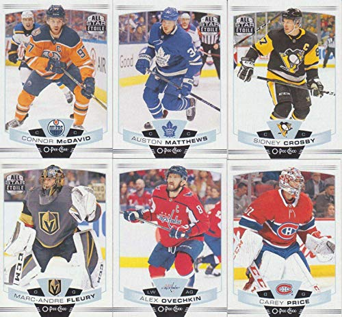 2019 Upper Deck Star - 2019 2020 Upper Deck O PEE CHEE NHL Hockey Series Complete Mint Basic Hand Collated 500 Card Veteran Players Set Including Sidney Crosby, Auston Mathews, Steven Stamkos, Connor McDavid and More