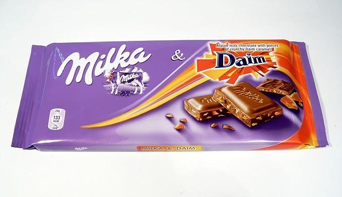Milka Daim Chocolate 100g 5 Bars