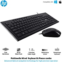 HP Slim Multimedia USB Wired Keyboard and Mouse Combo (4SC13PA)