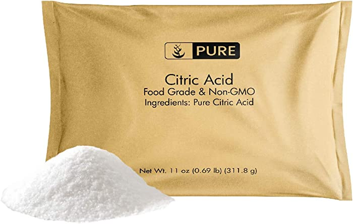 Citric Acid (11 oz) by Pure Organic Ingredients, Eco-Friendly Packaging, All-Natural, Highest Quality, Pure, Food Grade, Non-GMO
