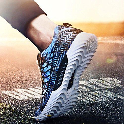 Camo Schuhe Herren Damen Wanderschuhe Sommer Blau Mesh Sneaker Liebhaber Sportschuhe Laufschuhe Unisex Aelegant mit Atmungsaktiv Aufdruck Leichte dqwnXxqZR5