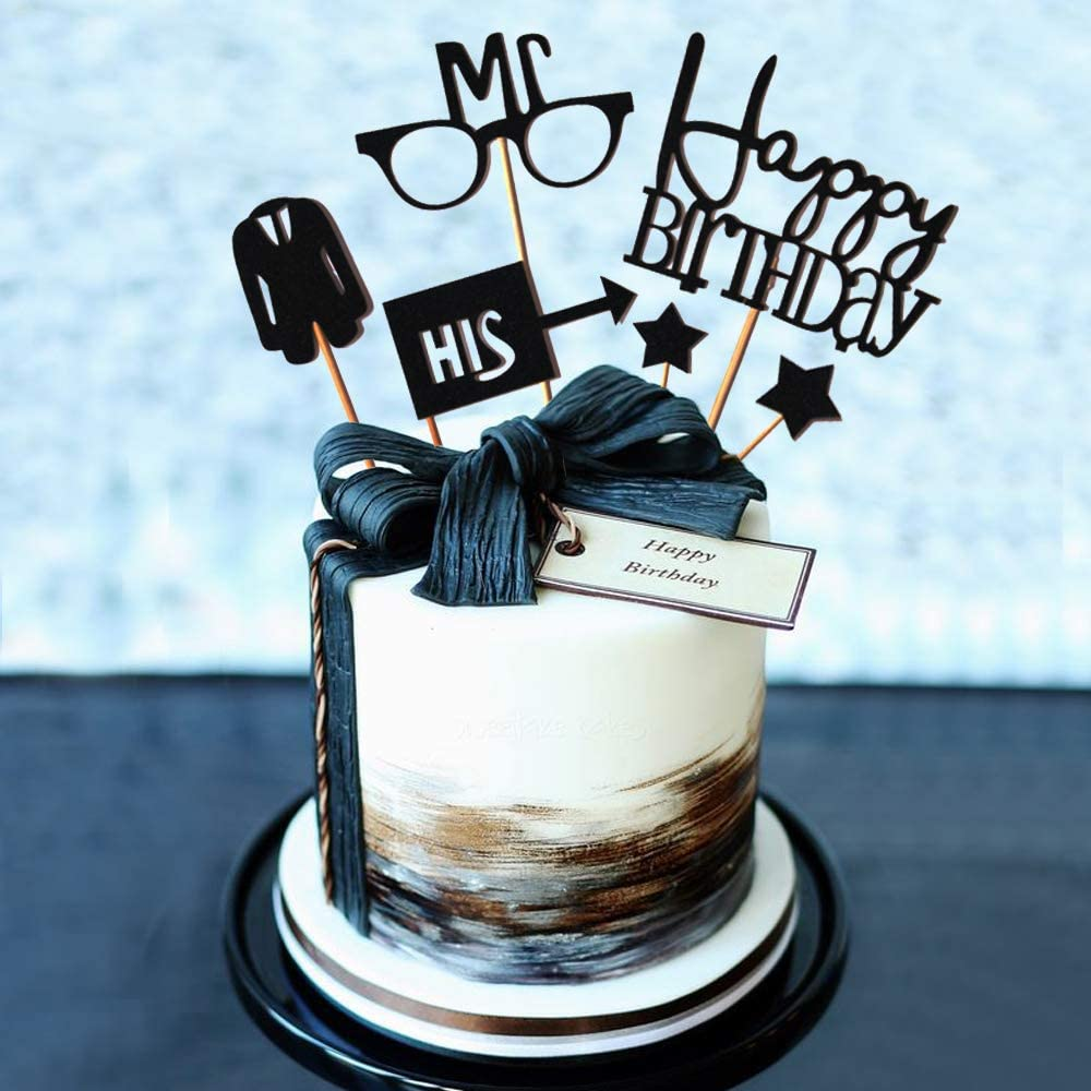 Astonishing Jevenis Gentleman Birthday Cake Topper Husband Birthday Cake Personalised Birthday Cards Veneteletsinfo