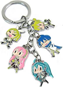 WinVI Hatsune Miku Metal Charm Keychain Keyring (Hatsune1)