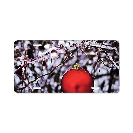 christmas ornaments license plate frames fine slim frame standard size
