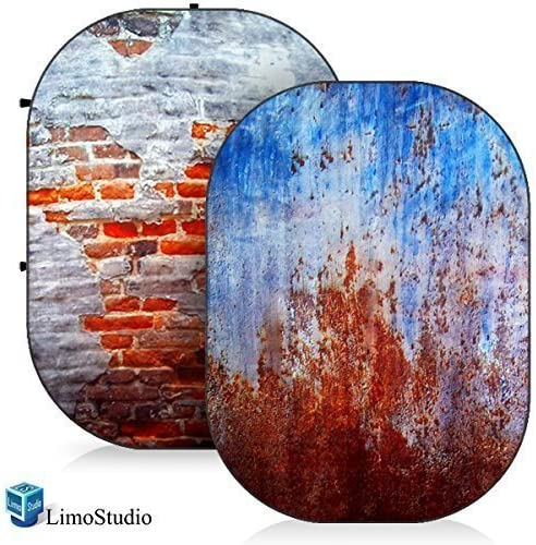 LimoStudio Photo Video Photography Studio 5x7 Computer Printed 2 in 1 Collapsible Background Disc Panel AGG1362