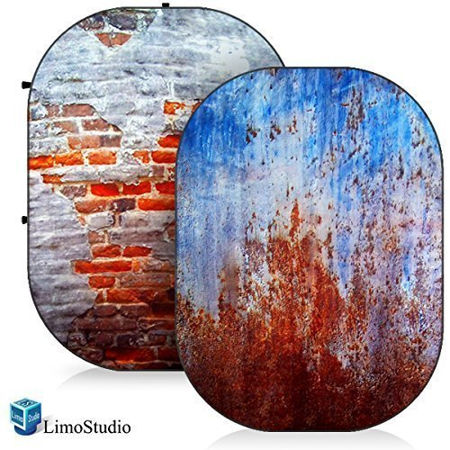 LimoStudio Photo Video Photography Studio 5'x7' Computer Printed 2 in 1 Collapsible Background Disc Panel, AGG1362 by LimoStudio