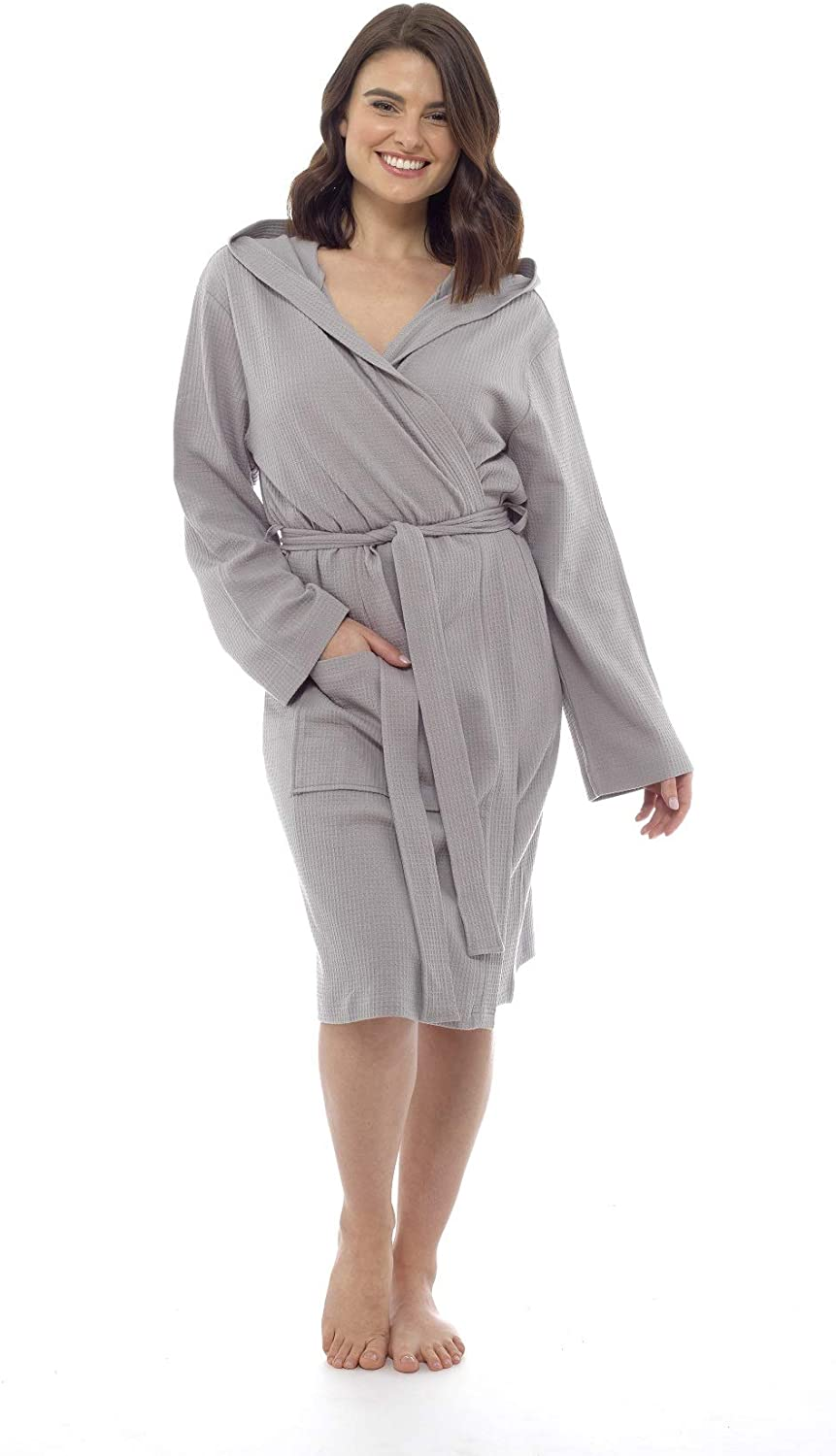 CityComfort Pure Cotton Dressing Gown Women Waffle Kimono Lightweight Ladies Robe