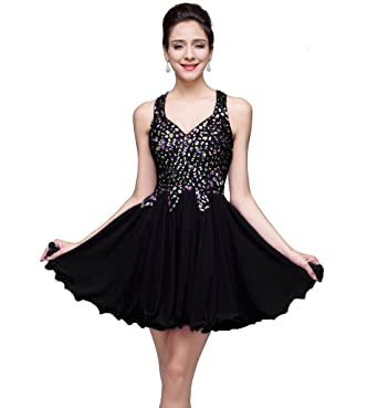 Amazon Misshow Juniors Short Crystal Chiffon Homecoming Prom