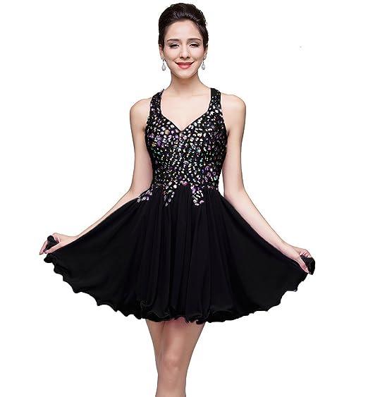 Amazon Misshow Juniors Short Crystal Chiffon Homecoming Prom