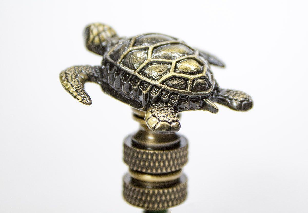 Sea Turtle Antique Metal Finial