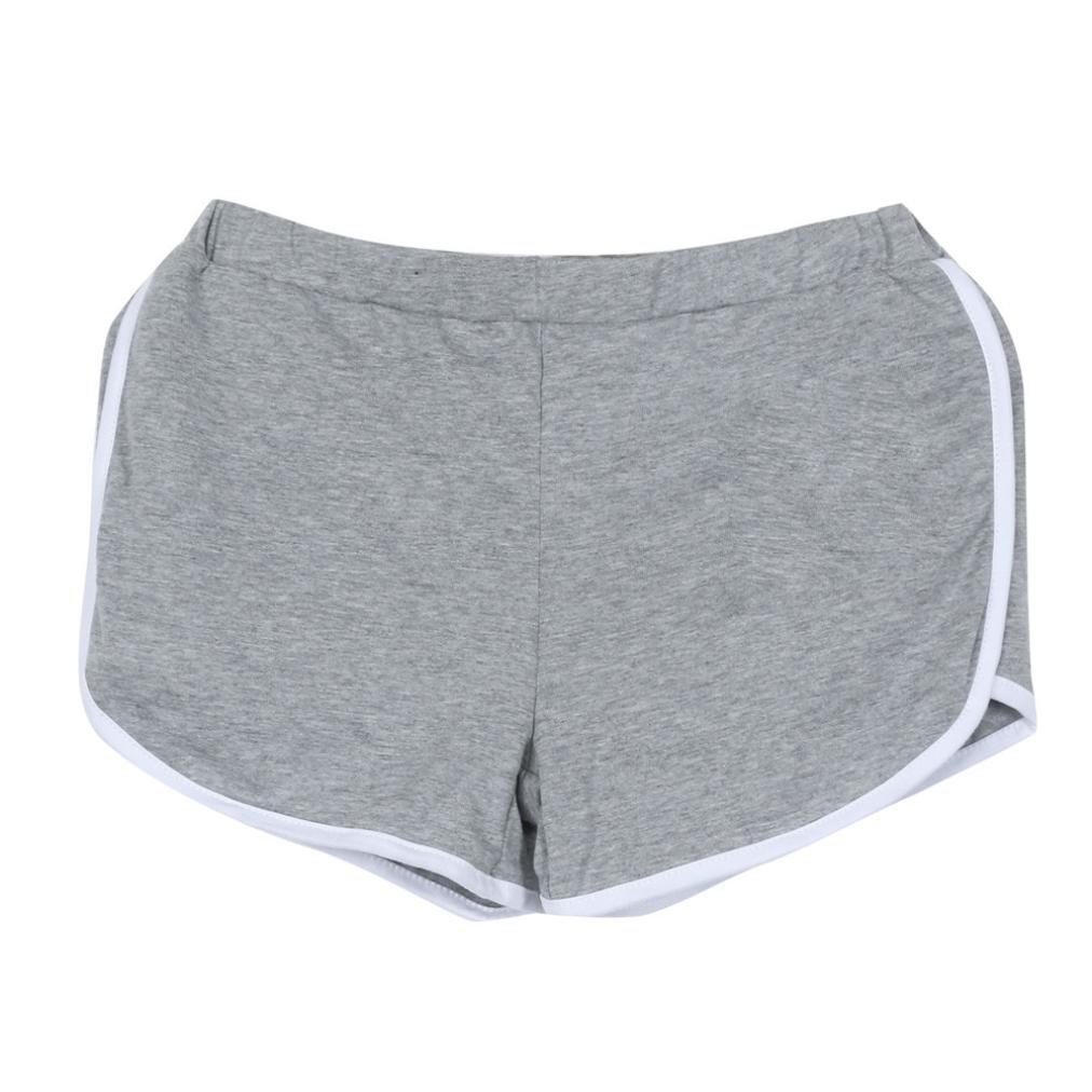 DaySeventh New Summer Pants Women Sports Shorts Gym Workout Yoga Short (S, Gray)