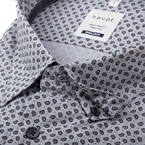 Camicia manica lunga Paisley grigio/nero Haupt XXL