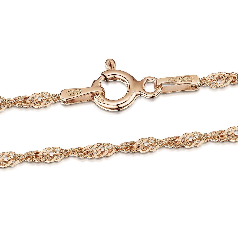 4ff3360f452f Caliente de la venta Amberta Joyería - Collar - Fina Plata De Ley 925 - 14K