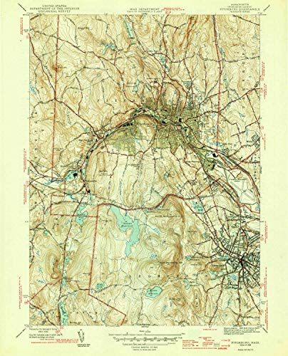 Rollstone Hill (YellowMaps Fitchburg MA topo map, 1:31680 Scale, 7.5 X 7.5 Minute, Historical, 1946, 19.8 x 16 in - Tyvek)