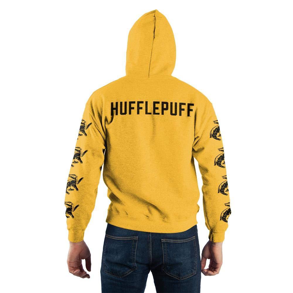 Harry Potter Hufflepuff Quidditch Pullover Hooded Sweatshirt