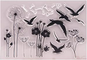 Dandelion Flying Bird sea Gull Stamp Rubber Clear Stamp/Seal Scrapbook/Photo Album Decorative Card Making Clear Stamps