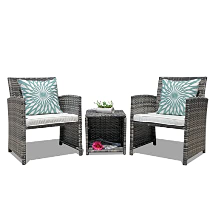 Amazon Com Oc Orange Casual 3 Piece Outdoor Wicker Bistro Patio