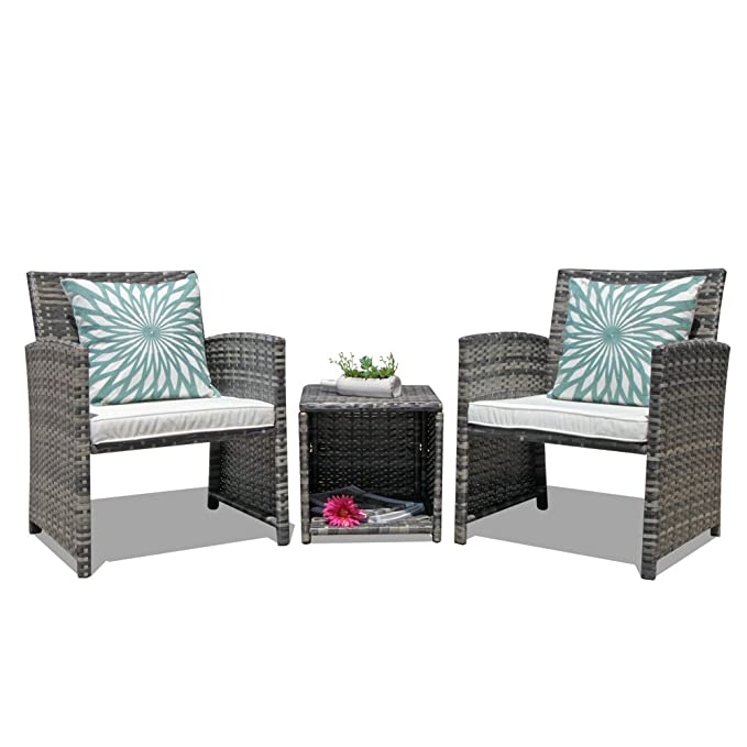 OC Orange-Casual 3-Piece Outdoor Wicker Bistro Patio Furniture Set – The Best Value Furniture Set