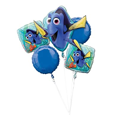 Anagram Disney Finding Dory Balloon Bouquet, 5 Balloons: Toys & Games