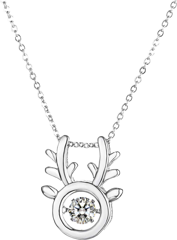 yazidan Heartbeat Necklace Cubic Zirconia Will Spin WAS £26.99 NOW £2.69 w/code 5HEHPQBI @ Amazon
