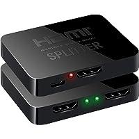eErlik 2 Port HDMI Splitter - 1 in 2 Out - Support 4k 2k 3D Full HD