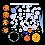 Quimat 78Pcs Plastic Gear Accessories with Various Gear and Axle Belt Bushings for DIY Car Robot Project QY17